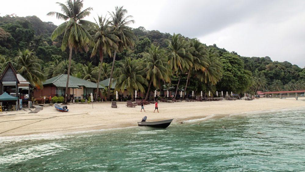 Strandnära boende. Perenthien, Malaysia April 2015