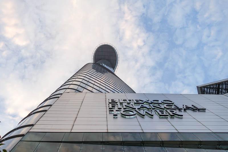 Bitexco Financial Tower på våning 50-52 kan man sippa drinkar, äta fin middag eller bara ta en fika.