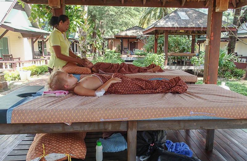 Lite massage för att koppla av.