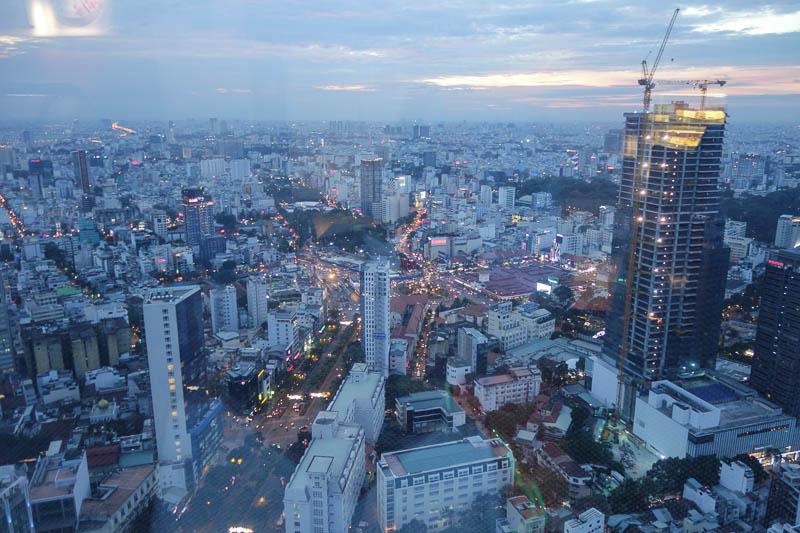 Utsikt från 50:e våningen på Bitexco tower