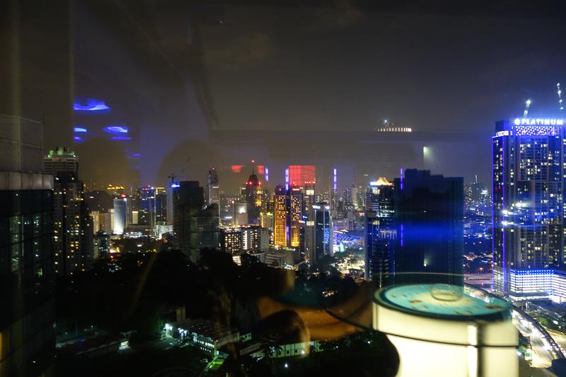 Utsikt från Lunabar på 34:e våningen.