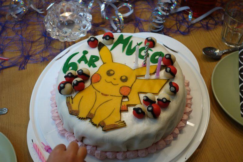 Födelsedagstårta till vår fina 6-åring. Självklart tema var pokemon.
